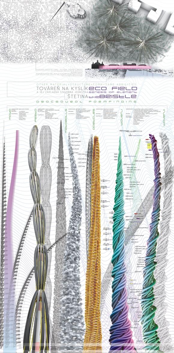 Dalibor Dzurilla: Digitální simulace růstu, hledání formy, element ekologického pole (Ateliér FLOW Studio Florián)