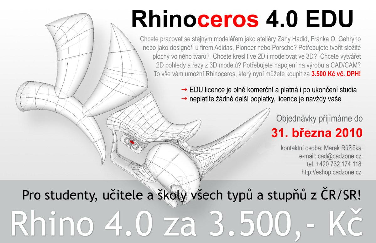 Rhinoceros 4.0 EDU za výhodnou cenu